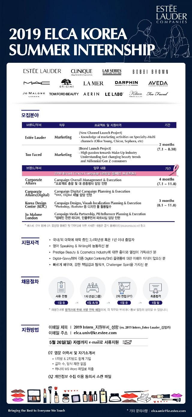 ELCA KOREA / 2019 Summer Internship / 26MAY2019